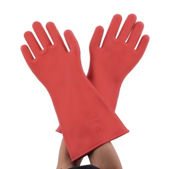 GOOD Insulated 12Kv High Voltage Electrical Insulating Gloves For Electricians - intl - 3