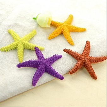 Good Service 3Pcs Colorful Starfish Resin Star Home Beach OrnamentWedding Decoration Present - intl Price Philippines