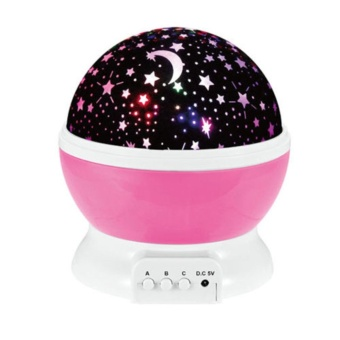 Gosport USB Rotating Projector Starry Night Lamp Star Sky Romantic Projection LED Gift - intl