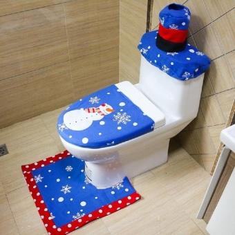 Gracefulvara new hand embroidered Christmas snowman Christmas holiday household items - intl