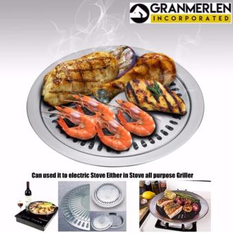 Granmerlen Stainless Stove Top Indoor and Outdoor Barbeque Grill (Silver)