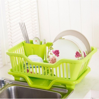Great Kitchen Sink Dish Drainer Drying Rack Washing Holder Basket Organizer Tray - intl