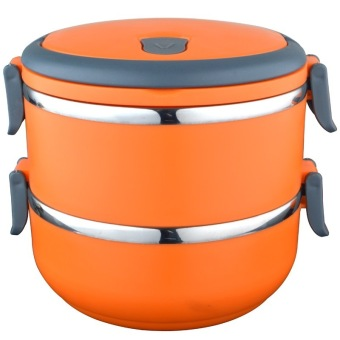 Greatnes D&D BSS-69 Stainless Steel Thermal Box and Bento Box Two Layers (Orange) - 2