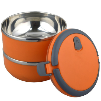 Greatnes D&D BSS-69 Stainless Steel Thermal Box and Bento Box Two Layers (Orange)
