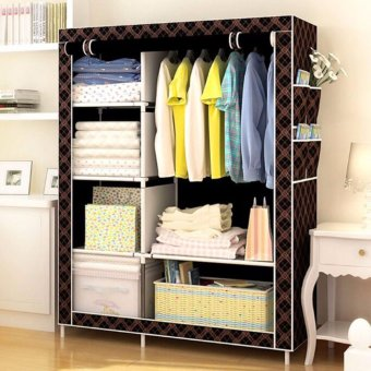 Greatnes XZY 1312 Storage Wardrobe and Clothes Organizer (Coffee) Price Philippines