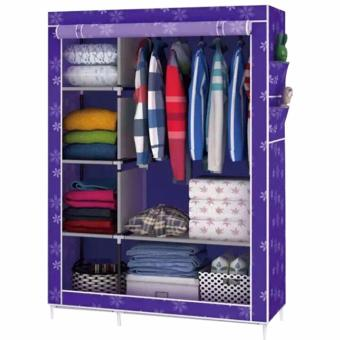 Greatnes XZY 1312 Storage Wardrobe and Clothes Organizer (Violet)