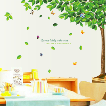 Green Tree large living room TV backdrop stickers wall stickers