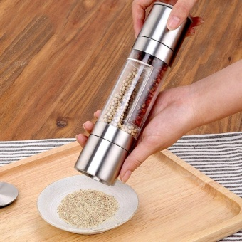 Grinder Pepper Garlic Manual Mill Stainless Steel Seasoning Powder Grinder - intl