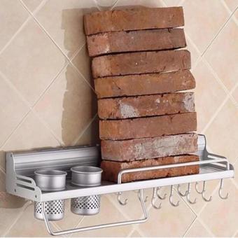 GX Space Aluminum Kitchen Shelf wall hanging rack storage cutterpendant supplies seasoning rack - intl - 4