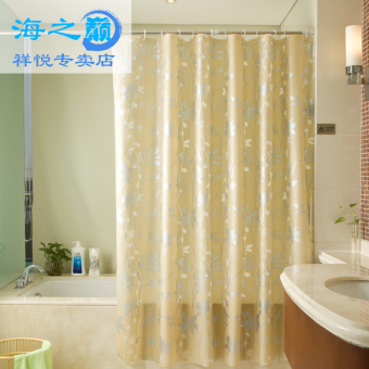 Haizhidian peva waterproof anti-mildew bathroom shower curtain door curtain bathroom Partition