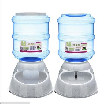 HALIO--3.5L Large Automatic Pet Feeder Drinking Fountain for Cats Dogs Bowl Pets Water and Food Dispenser Pets Supply - intl