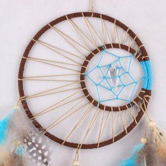 Handmade Dream Catcher Feathers Hanging Decoration - 4