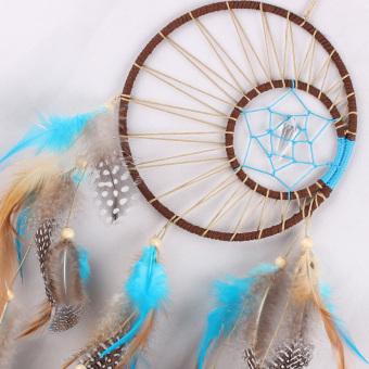 Handmade Dream Catcher Feathers Hanging Decoration - 2