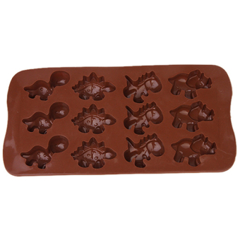 Hang-Qiao 12 Holes Silicone Cake Mold (Brown) - picture 2