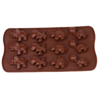 Hang-Qiao 12 Holes Silicone Cake Mold (Brown)