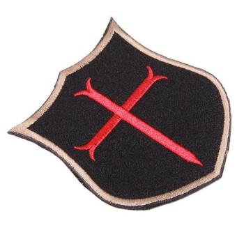 Hang-Qiao 3D Cross Military Velcro Armband Patch Badges Black
