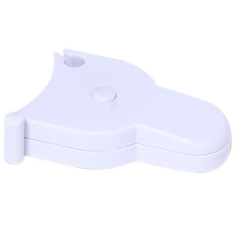 Hang-Qiao Body Measuring Inch Ruler Soft Flat Ruler White