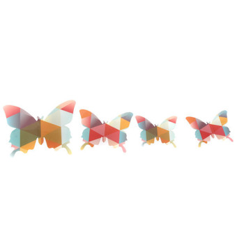 Hang-Qiao Home Wall Stickers Butterflies Paper (Multicolor)
