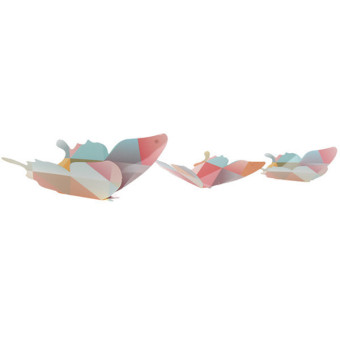 Hang-Qiao Home Wall Stickers Butterflies Paper (Multicolor) - picture 2