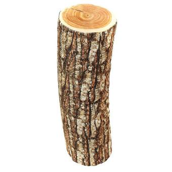 Hang-Qiao Wood Design Cushion Brown