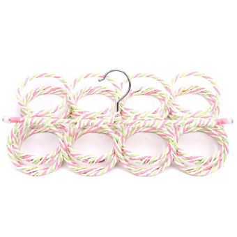 Hanyu 28 Hole Ring Rope Shawl Hanger Multicolor
