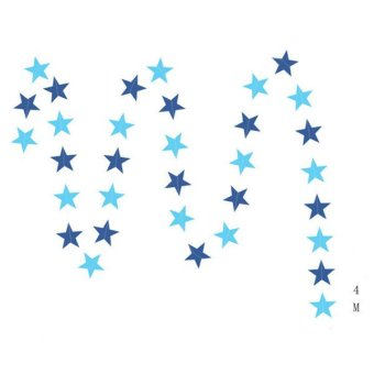 Hanyu 4m Room Decoration Festival Props Stars Shape Garland Blue