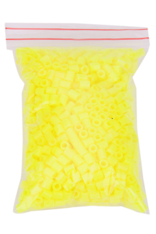 Hanyu Hama Perler Beads 1000-piece Set (Yellow)