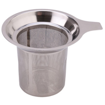 Hanyu Stainless Steel Mesh Cup Reusable Strainer Tea Filter InfuserSilver - Intl