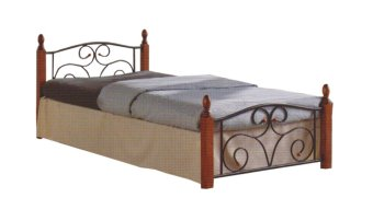 "Hapihomes DUSIT Bed Frame ""48 x 75"" (Black/Brown) Price Philippines"