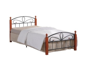"Hapihomes Hilton Bed Frame ""36 x 75"" (Black/Brown) Price Philippines"
