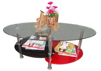 Hapihomes Kreme Center / Coffee Table (GLASS)