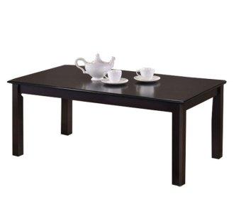 Hapihomes Nathan All Wood Center/Coffee Table (Wenge/Black) - 3
