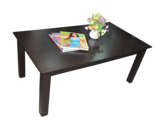 Hapihomes Nathan All Wood Center/Coffee Table (Wenge/Black)