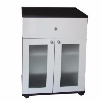Hapihomes Ronnie 2-door Kitchen Cabinets (Black/White) - 2