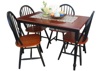 Hapihomes Sunflower (4-seater) Dining Set (Black/Cherry) Price Philippines