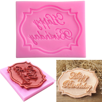 Happy Birthday Silicone Mould Cake Fondant Decorating Baking Mold DIY Tool Price Philippines