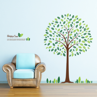 Happy tree bedroom romantic furniture living room TV wall stickers wall adhesive paper