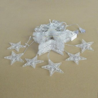 HappyLife 110V 138-Led Star String Lights With Us-Plug For Garden / Room /Holiday / Christmas Decoration (White) - intl - picture 2