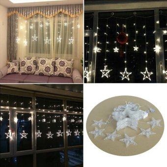 HappyLife 110V 138-Led Star String Lights With Us-Plug For Garden / Room /Holiday / Christmas Decoration (White) - intl