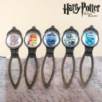 Harry Potter Bookmark Hogwart Hufflepuff Slytherin GryffindorRavenclaw 5pcs/set - intl