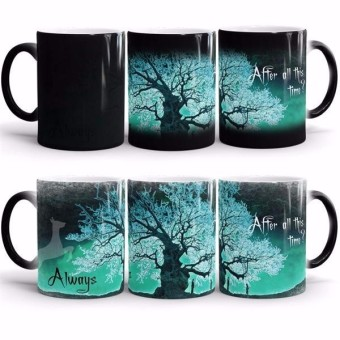 harry potter mugs After all this time Always heat reveal mugs heat changing color cups coffee mug transforming disappearing mug(Green) - intl Price Philippines