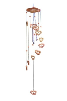 hazyasm Handmade Wind Chime Bell Heart-Shaped Aeolian Bells Ornament Lucky Gift - intl Price Philippines
