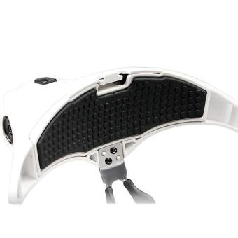 Head Mount Multi-function Magnifier with LED Headlight Bracket andHeadband Lenses 1.0X to 3.5X - intl - 3