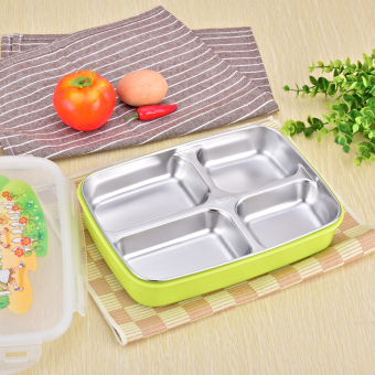 Heat Resistant children's student lunch box insulated container