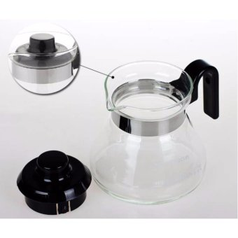 Heat Resistant Glass Teapot Coffee Pot Kettle Glass Range Server -intl - 3