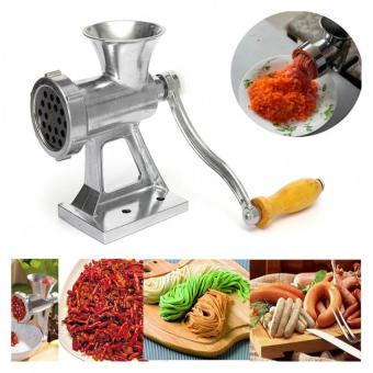 Heavy Duty Hand Operated Meat Grinder Beef Noodle Pasta SausagesMaker (Silver)