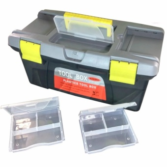 Heavy Duty Multi Purpose Durable High Quality Plastic Tool Box,(Small)