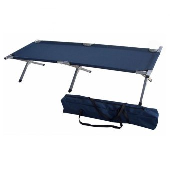 Heavy Duty Portable Folding Bed (Dark Blue)