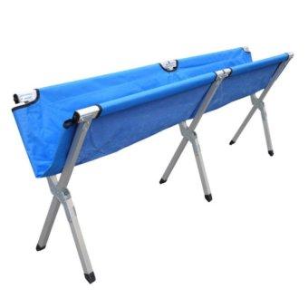 Heavy Duty Portable Folding Bed (Navy Blue) - 2