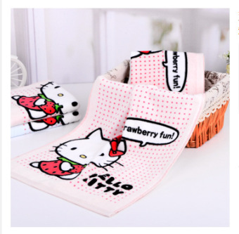 Hello Kitty cute absorbent cotton towel face towel